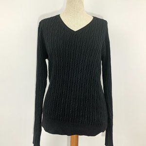 Sonoma Cable Knit Black sweater
